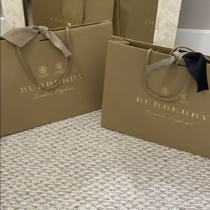 Burberry Shopping Bag! Black Ribbon!